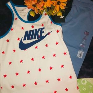 Girl Nike tank Top And SO Capri Leggings Size M